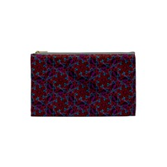 Whirligig Pattern Hand Drawing Red Cosmetic Bag (small)  by Cveti
