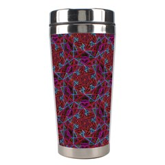 Whirligig Pattern Hand Drawing Red Stainless Steel Travel Tumblers by Cveti