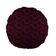 Whirligig Pattern Hand Drawing Red Standard 15  Premium Flano Round Cushions by Cveti