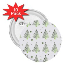 Christmas Tree   Pattern 2 25  Buttons (10 Pack)  by Valentinaart