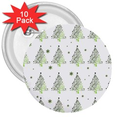 Christmas Tree   Pattern 3  Buttons (10 Pack)  by Valentinaart