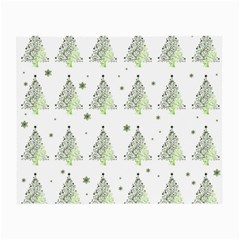 Christmas Tree   Pattern Small Glasses Cloth by Valentinaart