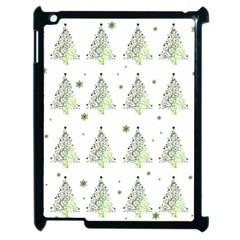 Christmas Tree   Pattern Apple Ipad 2 Case (black) by Valentinaart