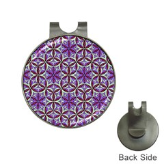 Flower Of Life Hand Drawing Pattern Hat Clips With Golf Markers by Cveti