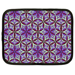 Flower Of Life Hand Drawing Pattern Netbook Case (xl)  by Cveti