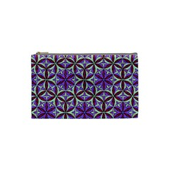 Flower Of Life Hand Drawing Pattern Cosmetic Bag (small)  by Cveti