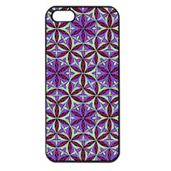 Flower Of Life Hand Drawing Pattern Apple Iphone 5 Seamless Case (black) by Cveti