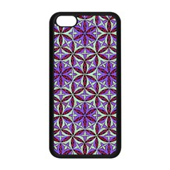 Flower Of Life Hand Drawing Pattern Apple Iphone 5c Seamless Case (black) by Cveti