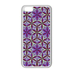 Flower Of Life Hand Drawing Pattern Apple Iphone 5c Seamless Case (white) by Cveti