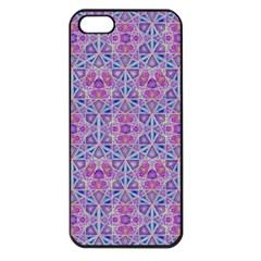 Star Tetrahedron Hand Drawing Pattern Purple Apple Iphone 5 Seamless Case (black) by Cveti