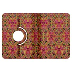 Star Tetrahedron Pattern Red Kindle Fire Hdx Flip 360 Case by Cveti