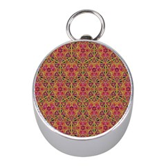 Star Tetrahedron Pattern Red Mini Silver Compasses by Cveti