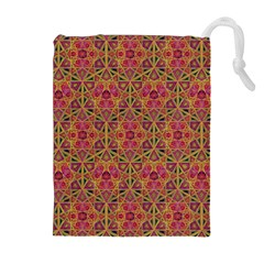 Star Tetrahedron Pattern Red Drawstring Pouches (extra Large) by Cveti