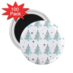 Christmas Tree   Pattern 2 25  Magnets (100 Pack)  by Valentinaart