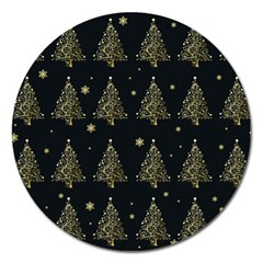 Christmas Tree   Pattern Magnet 5  (round) by Valentinaart