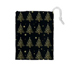 Christmas Tree   Pattern Drawstring Pouches (large)  by Valentinaart