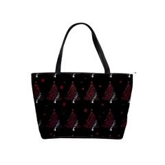 Christmas Tree   Pattern Shoulder Handbags by Valentinaart