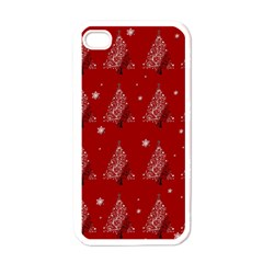 Christmas Tree   Pattern Apple Iphone 4 Case (white) by Valentinaart