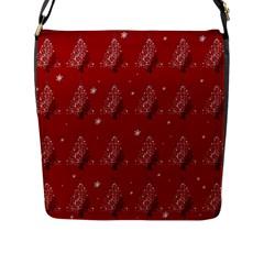 Christmas Tree   Pattern Flap Messenger Bag (l)  by Valentinaart