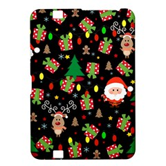 Santa And Rudolph Pattern Kindle Fire Hd 8 9  by Valentinaart