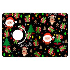 Santa And Rudolph Pattern Kindle Fire Hdx Flip 360 Case by Valentinaart