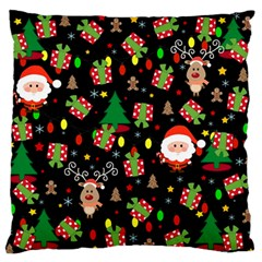 Santa And Rudolph Pattern Standard Flano Cushion Case (two Sides) by Valentinaart