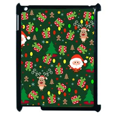 Santa And Rudolph Pattern Apple Ipad 2 Case (black) by Valentinaart
