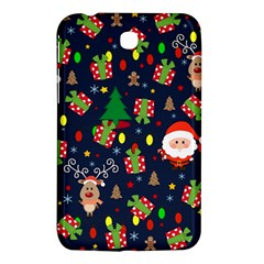 Santa And Rudolph Pattern Samsung Galaxy Tab 3 (7 ) P3200 Hardshell Case  by Valentinaart