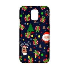Santa And Rudolph Pattern Samsung Galaxy S5 Hardshell Case  by Valentinaart
