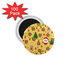 Santa And Rudolph Pattern 1 75  Magnets (100 Pack)  by Valentinaart