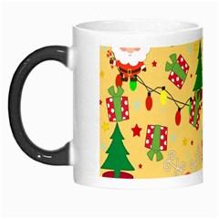 Santa And Rudolph Pattern Morph Mugs by Valentinaart