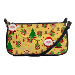 Santa And Rudolph Pattern Shoulder Clutch Bags by Valentinaart