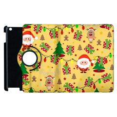 Santa And Rudolph Pattern Apple Ipad 2 Flip 360 Case by Valentinaart