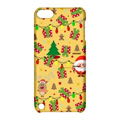Santa And Rudolph Pattern Apple Ipod Touch 5 Hardshell Case With Stand by Valentinaart