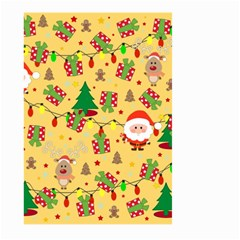 Santa And Rudolph Pattern Large Garden Flag (two Sides) by Valentinaart