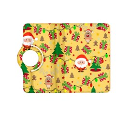 Santa And Rudolph Pattern Kindle Fire Hd (2013) Flip 360 Case by Valentinaart