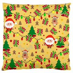 Santa And Rudolph Pattern Standard Flano Cushion Case (one Side) by Valentinaart