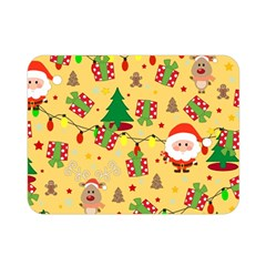 Santa And Rudolph Pattern Double Sided Flano Blanket (mini)  by Valentinaart
