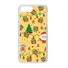 Santa And Rudolph Pattern Apple Iphone 7 Plus Seamless Case (white) by Valentinaart