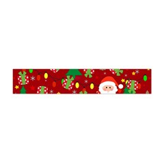 Santa And Rudolph Pattern Flano Scarf (mini) by Valentinaart