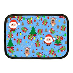 Santa And Rudolph Pattern Netbook Case (medium)  by Valentinaart