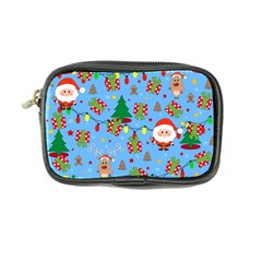 Santa And Rudolph Pattern Coin Purse by Valentinaart