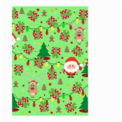 Santa And Rudolph Pattern Small Garden Flag (two Sides) by Valentinaart