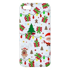 Santa And Rudolph Pattern Iphone 5s/ Se Premium Hardshell Case by Valentinaart