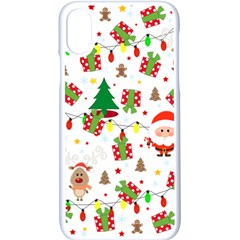 Santa And Rudolph Pattern Apple Iphone X Seamless Case (white)