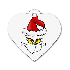 Grinch Dog Tag Heart (one Side) by Valentinaart
