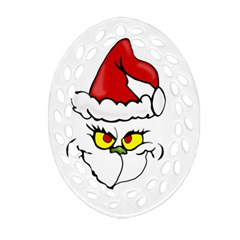 Grinch Ornament (oval Filigree) by Valentinaart