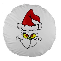 Grinch Large 18  Premium Flano Round Cushions by Valentinaart