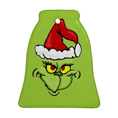 Grinch Bell Ornament (two Sides) by Valentinaart