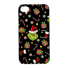 Grinch Pattern Apple Iphone 4/4s Hardshell Case With Stand by Valentinaart